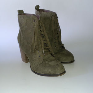 Candies Olive Couture Boots - Size 6